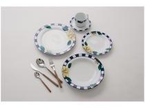 Aparelho de Jantar 20 Peças Schmidt Redondo - Colorido Porcelana Lavínia