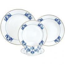 Aparelho de Jantar 30 Peças Hercules Porcelana - Redondo Valentine APJ41-30