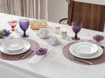 Aparelho de Jantar 42 Peças Casambiente Porcelana - Redondo Branco Royal Castle SG0346