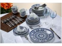 Aparelho de Jantar Chá 30 Peças Casambiente - Porcelana Redondo Athenas