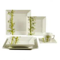 Aparelho de Jantar Chá 30 Peças Oxford Porcelanas - Quadrado Colorido Quartier Bamboo