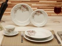Aparelho de Jantar Chá 30 Peças Schmidt - Porcelana Redondo Colorido Floral