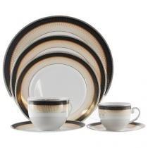 Aparelho de Jantar Chá Café 42 Peças Casambiente - Porcelana Redondo Colorido Oxford