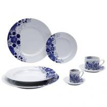 Aparelho de Jantar Chá Café 42 Peças Schmidt - Porcelana Prática Glória