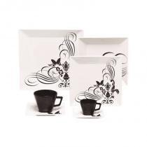 Aparelho de jantar, chá e café com 42 peças quartier tattoo - Oxford