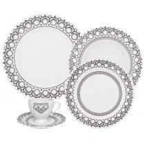 Aparelho de Jantar Chá Porcelana Oxford Soleil Henna 30 Peças -