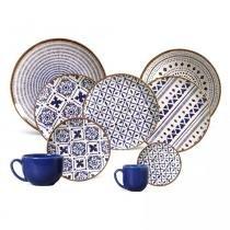Aparelho de jantar coup asteca porto brasil cerâmica 42 peças -