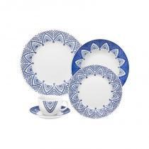 Aparelho de jantar e chá com 30 peças flamingo milano - Branco - Oxford