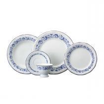 Aparelho de Jantar e Chá Edite 30 peças - Porcelana Schmidt - Porcelana Schmidt