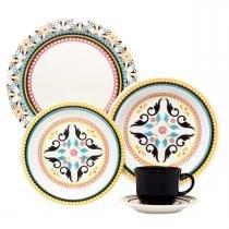 Aparelho de Jantar e Chá Floreal Luiza 30 peças - Oxford Daily - Oxford Daily