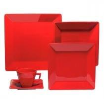 Aparelho de Jantar e Chá Quartier Red 30 peças - Oxford - Oxford