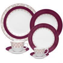 Aparelho de Jantar Flamingo Dama de Honra 30 Peças - em Porcelana - Oxford
