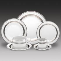 Aparelho de Jantar Silver Sky - 42 Peças - Bon Gourmet