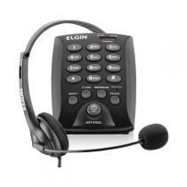 Aparelho Telefonico Com Fio Headset Hst-6000 C/Flash Preto Elgin - Elgin