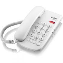 Aparelho Telefonico Com Fio Tcf-2000 C/Chave Bloqueio Bco Elgin -