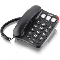 Aparelho Telefonico Com Fio Tcf-2300 C/Chave Viva Voz Pret Elgin -