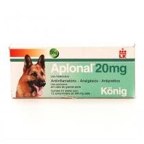Aplonal 20mg 12 Comp Konig - Analgésico Oral Cães - Konig