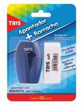 Apontador + Borracha Tris Office 681078 Summit Blister - 1