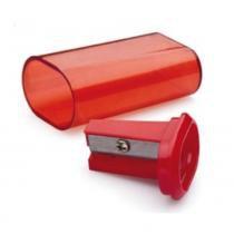Apontador com Depósito Basic Tris - Vermelho -