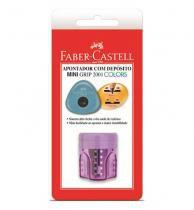Apontador Com Deposito Mini Grip Colors Sm/Mgrip Faber Blister - 1