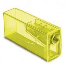 Apontador com Depósito Neon Faber Castell - Amarelo - Faber-castell