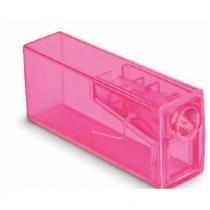 Apontador com Depósito Neon Faber Castell - Rosa - Faber-castell