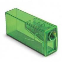 Apontador com Depósito Neon Faber Castell - Verde - Faber-castell