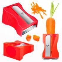 Apontador de Cenoura Ralador Descascador de Legumes e Frutas Vermelho  riomaster -