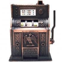 Apontador Retrô Miniatura Caça-níquel Envelhecido - Versare anos dourados