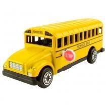 Apontador Retrô Miniatura Ônibus Escolar Amarelo - Versare anos dourados