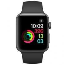 Apple Watch Series 2 42mm Alumínio 8GB Esportiva - Preta GPS Integrado Resistente a Água