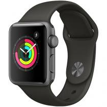 Apple Watch Series 3 38mm Alumínio 8GB Esportiva - Cinza Espacial GPS Integrado Resistente a Água