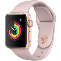 Apple Watch Series 3 38mm Alumínio 8GB Esportiva - Dourado GPS Integrado Resistente a Água