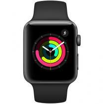 Apple Watch Series 3 42mm Alumínio 8GB Esportiva - Cinza Espacial GPS Integrado Resistente a Água