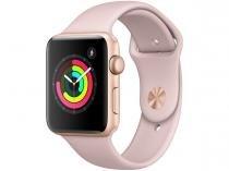 Apple Watch Series 3 42mm Alumínio 8GB Esportiva - Dourado GPS Integrado Resistente a Água