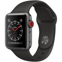 Apple Watch Series 3 GPS + Cellular 38mm Wi-Fi - Bluetooth Pulseira Esportiva 16GB Caixa Alumínio