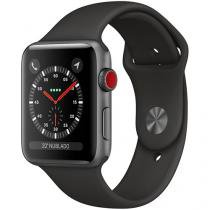 Apple Watch Series 3 GPS + Cellular 42mm Wi-Fi - Bluetooth Pulseira Esportiva 16GB Caixa Alumínio