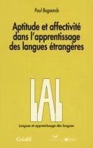 Aptitude et affectivite dansl apprentissage des langues etrangeres - lal - 9782278015399 - Didier/ hatier