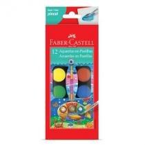Aquarela pastilha - 19.0012 - estojo com 12 cores - Faber-Castell -