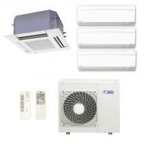 Ar Condicionado Multi Split Inverter Daikin Advance 3X9000(HW)+1X18000(Cassete) Btu/s Quente/Frio 220v 1F -