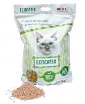 Areia Higiênica Granulada Petix Ecocatix 3kg -