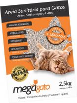 Areia Sanitária Premium Para Gatos - 2,5 Kg - Megagato - Pawise
