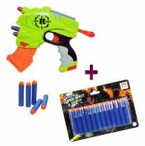 Arma lançador nerf agua refil 12 dardos brinde super shot (kit-dmt-4688-5161) - Dm toys