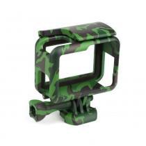 Armação Suporte Camuflado The Frame Para Câmeras GoPro Hero 5 Black Hero 6 Black Hero 7 Black Cor Verde Escuro - Shoot