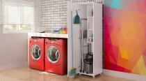 Armário Área Serviço FF Acetinado Art in Móveis Multifuncionais - Artin móveis