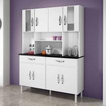 Armário de cozinha 8 portas 2 gavetas ventura chf branco - Chf