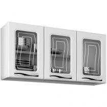 Armário de Cozinha Aéreo Colormaq - Ipanema Slim 3 Portas 105x52cm