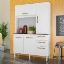 Armário De Cozinha Compacto Com Porta Basculante Noz - Albatroz móveis