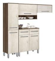 Armário de Cozinha Tóquio 1.9 Plus Noce com Ravena - CSA Móveis - CSA Móveis