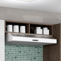 Armário geladeira com nichos Decari 31030 - Castanho - Palmeira